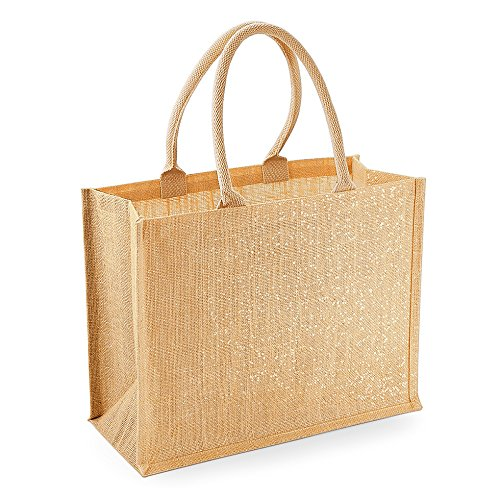 Westford Mill Shimmer iuta shopper Gold Shimmer particolare discussione lunghezza manico 55 cm