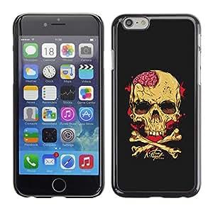 """For Apple Iphone 6 Plus / 6S Plus ( 5.5 ) Case , Negro Cerebral Blood Crossbones Cráneo"""" - Diseño Patrón Teléfono Caso Cubierta Case Bumper Duro Protección Case Cover Funda"""