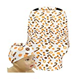 SHELLBOBO Baby Car Set Cover Canopy Candy Print Muslin (orange)