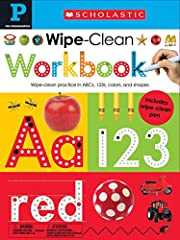 Wipe Clean Workbooks - Pre K is a colorful, wipe-clean workbook to support children in their early learning.Provides plenty of practice for children on a wide range of early learning topics. A wipe-clean pen is provided, the wirobound ...