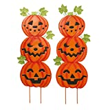 Miles Kimball Jack-O-Lantern Metal Stakes Set of 2 by Maple Lane Creations