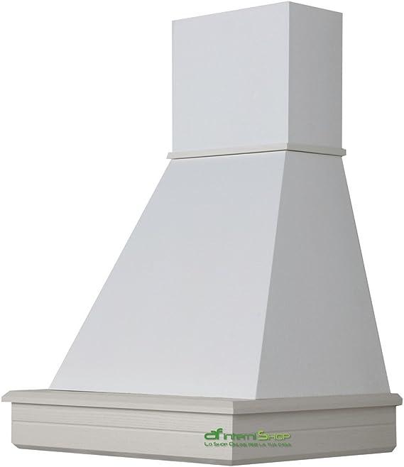 Cappa cocina, diseño rústico madera de pared 60 población-fresno Bianco- motor mc 580: Amazon.es: Hogar