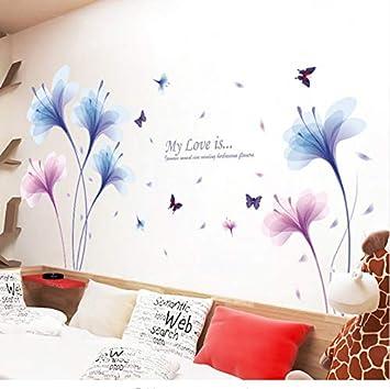 Rureng Sueño Azul Púrpura Orquídea Flores Decoración De La ...