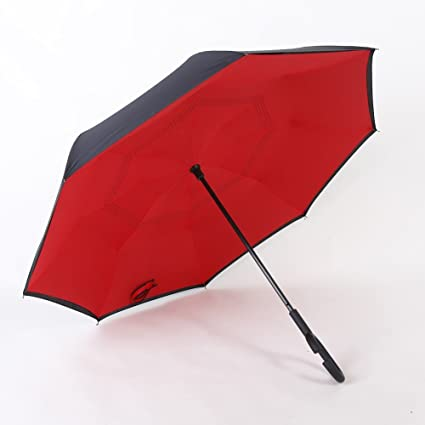 bpblgf New Paraguas Reverso Doble Sin Manos del Coche C Paraguas Reverso Anti UV Varios Colores