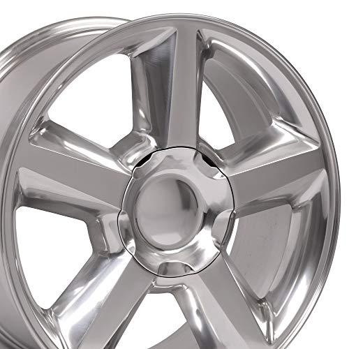 OE Wheels 20 Inch Fits Chevy Silverado Tahoe GMC Sierra Yukon Cadillac Escalade CV83 Polished 20x8.5 Rim Hollander 5308