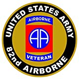 1 Pc Tip-top Fashionable US Army Veteran 82nd Airborne Sticker Sign Outdoor Doors Vinyl Size 4