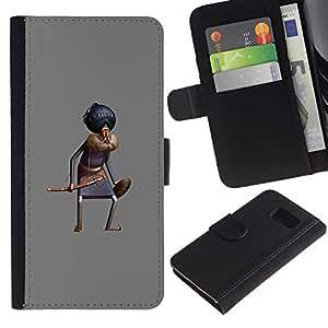 All Phone Most Case / Oferta Especial Cáscara Funda de cuero Monedero Cubierta de proteccion Caso / Wallet Case for Sony Xperia Z3 Compact // Hat Cartoon Comic King Oriental
