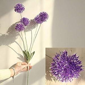 ESHOO Artificial Allium Flowers for Wedding Bouquet Home Party Decor 66