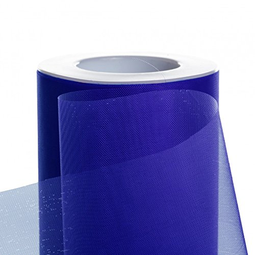 Koyal Wholesale 25-Yard Sheer Organza Fabric Roll, 6-Inch, Royal Blue