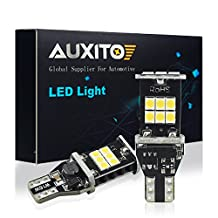 AUXITO 912 921 LED Reverse Light Bulbs 1000 Lumens High Power 2835 15-SMD Chipsets Extremely Bright Error Free T15 906 W16W for Back Up Lights Reverse Lights, 6000K White (Pack of 2,Upgraded Version)