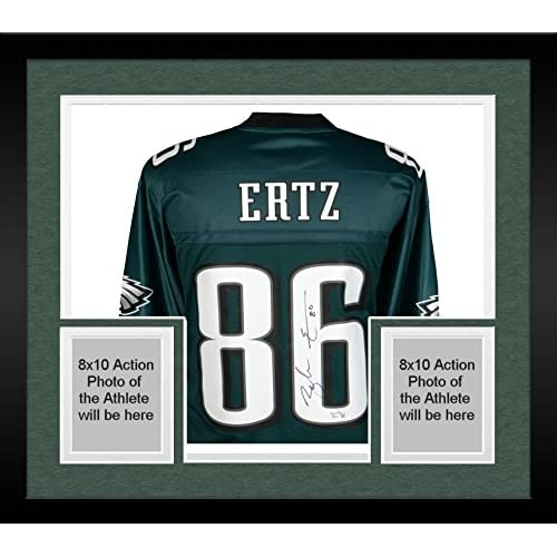 new style 1093e cf7d2 Framed Zach Ertz Philadelphia Eagles Autographed Green NFL ...