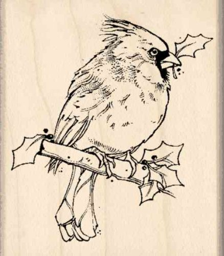 Cardinal Rubber Stamp - 1-3/4 inches x 2 inches