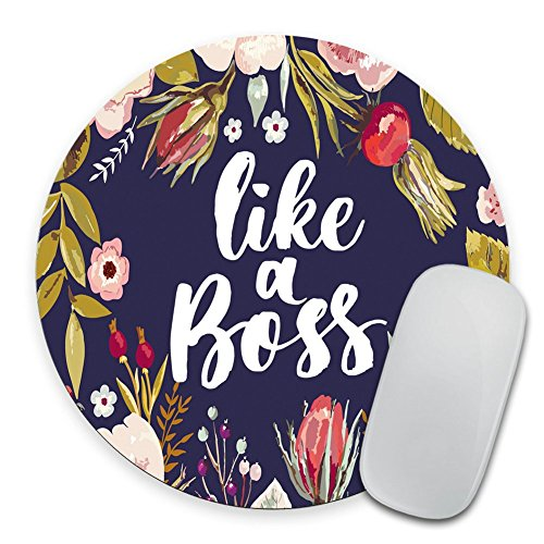 Like a boss Mouse pad, Desk Accessories, Mousepad, Desk Decor Office Decor, Floral Mouse pad, Dorm Decor, Floral Mousepad Girl boss