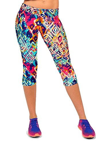 Womens Printed Workout Leggings Stretch