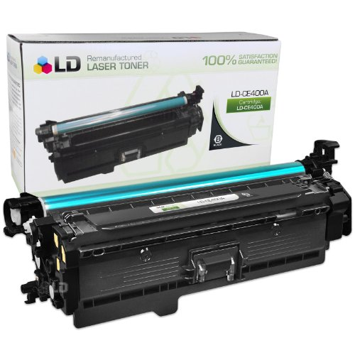 LD Remanufactured Replacement for HP CE400A / 507A Black Laser Toner Cartridge for HP LaserJet Enterprise 500 Color M551dn, M551n, M551xh, MFP M575dn, MFP M575f, and MFP (507a Black Cartridge Toner)