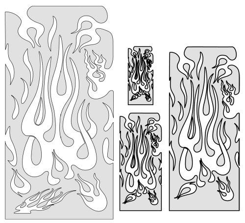 Artool Freehand Airbrush Templates, Freehand Flame Master Set ()