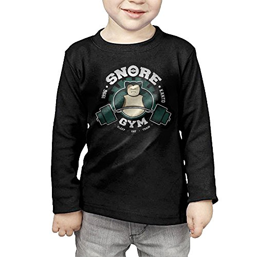 [MHGJ Toddler Unisex Poke Snorlax Gym 1996 Long Sleeve Tee 3 Toddler Black] (Snorlax Costume Dress)