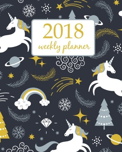Download Weekly & Monthly Planner 2018: Calendar Schedule Organizer Appointment Journal Notebook and Action day cute unicorn art design (Volume 71) pdf