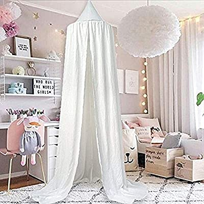 M&M Mymoon Mosquito Net Dome Bed Canopy Tent Hanging Decoration Reading Nook Indoor Game House for Baby Kids