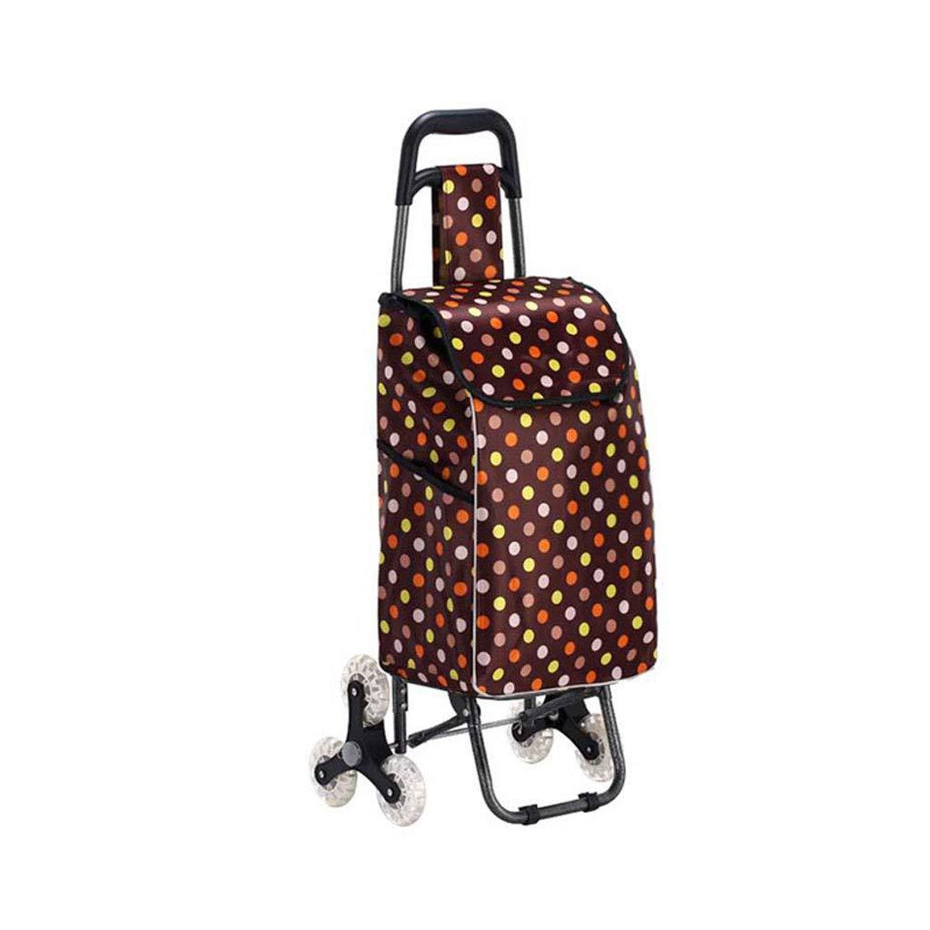 ショッピングカートショッピングトロリー折り畳み式トロリーポータブルショッピングバッグ荷物カート 市場ショッピングカート三輪車食料品カート   B07K7H8HZK
