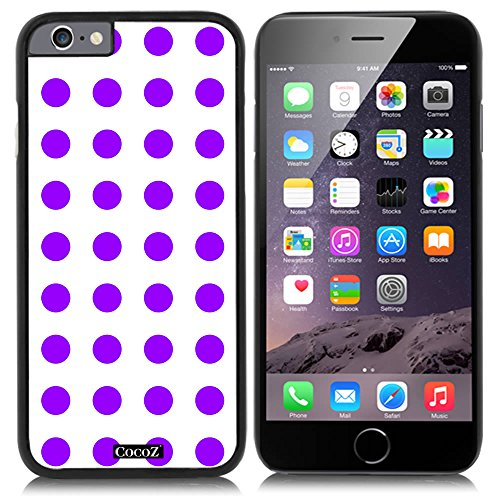 CocoZ® New Apple iPhone 6 s 4.7-inch Case Beautiful mint green Polka Dot pattern PC Material Case (Black PC & Polka Dot - Flash Super Slash