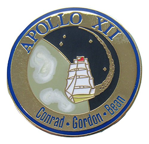 Apollo 12 Lapel Pin Official Nasa Edition ()
