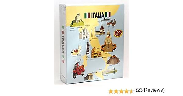 4x6 World By Shotglass italy200 Italy Embossed Photo Album 200 Photos