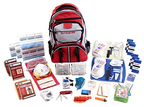 Guardian Survival Gear Hiker's Deluxe Emergency Kit, Red Backpack, 2 Person by Guardian Survival Gear