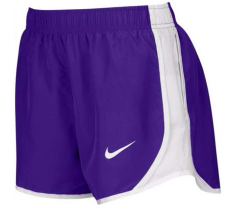 Nike Dry Tempo Short (Purple/White/White/(White), Large) by Nike