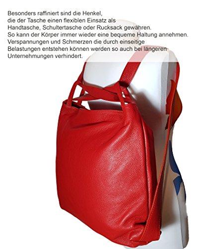 Made Schwarz Italy au pour in femme Sac dos main Strauß FreyFashion porté à pqZdp7