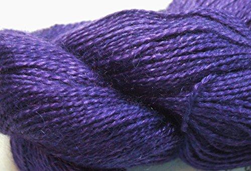 Malabrigo Baby Silkpaca Purple Mystery 030 Alpaca Silk Lace Yarn (Yarn Silk Alpaca)