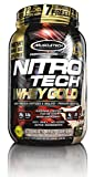 MuscleTech Nitro Tech 100% Whey Gold Muscle Building Powder, Cookies and Cream, 2.5 Pound