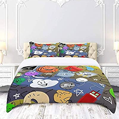 DGAIER Retro Pattern Duvet Cover Set - Battle for BFDI - Bedding Set with Pillowcase Gift for Kids Girls Duvet Cover Twin/XL Size: Home & Kitchen