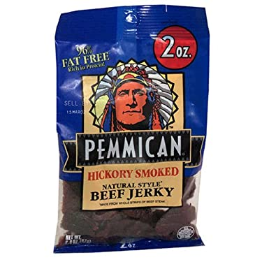 Pemmican Natural Style Beef Jerky, Hickory Smoked, 1.8-Ounce Packages (Pack of 6)