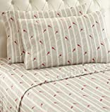 Thermee Micro Flannel Shavel Home Products Sheet Set, Birch, Full