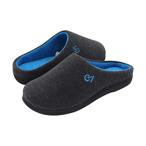 VeraCosy-Mens-Two-Tone-Memory-Foam-Slippers