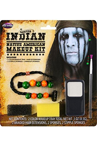 Mememall Fashion American Indian Warrior Make-Up Kit Halloween Costume Accessory (Native Indian Makeup)