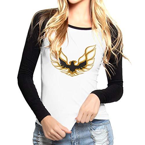 (Pontiac Trans Am Firebird Women Crew Neck Long Sleeve Tops Raglan Tee Shirt)