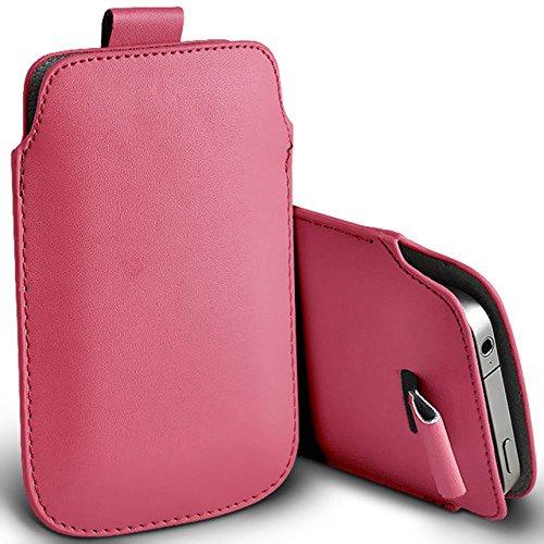 Digi Pig–Apple iPhone 4S poliuretano in pelle con linguetta custodia–rosa chiaro