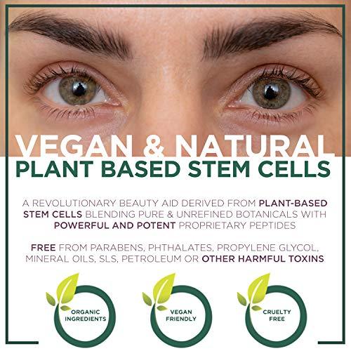 NuOrganic Eyebrow Serum Growth Enhancer Gel | Naturally Grow Fuller, Darker & Thicker brows | Plant Based Stem Cell Serum with Biotin & Growth Peptides | Fast Absorbing, Vegan & Cruelty Free (8ML)