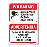 Audio & Video Surveillance On Duty at All Times Sign, Large 10 X 7