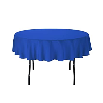 Superb LinenTablecloth 70 Inch Round Polyester Tablecloth Royal Blue