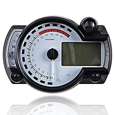 15000RPM Universal Motorcycle Digital LCD km/h MPH Speedometer Odometer Tachometer Gauge for 8-22 inch wheel