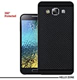 Hello Zone Exclusive Premium Quality Dotted Matte Finish Soft Rubberised Back Case Cover For Samsung Galaxy E5 - Black