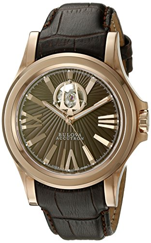 bulova-mens-kirkwood-swiss-automatic-stainless-steel-and-leather-casual-watch-colorbrown-model-64a10
