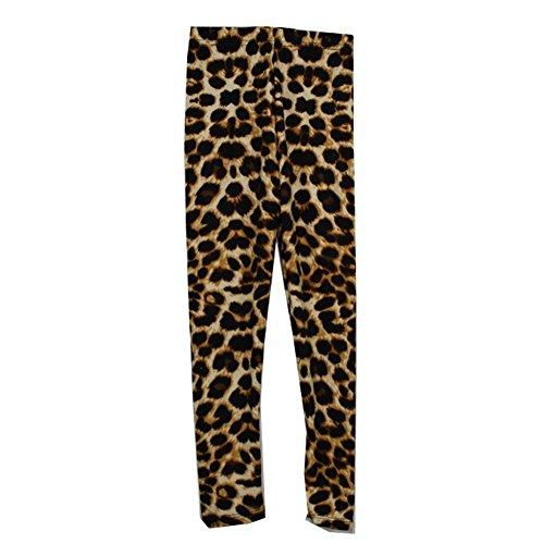 Children's Park Avenue Girls Black White Leopard Animal Pattern Stretchy Trendy Leggings 6/8 Park Avenue Dress