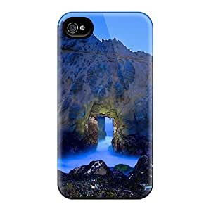 Back For Case Samsung Galaxy S4 I9500 Cover - Fantastic Natural Door In A Huge Beach Rock