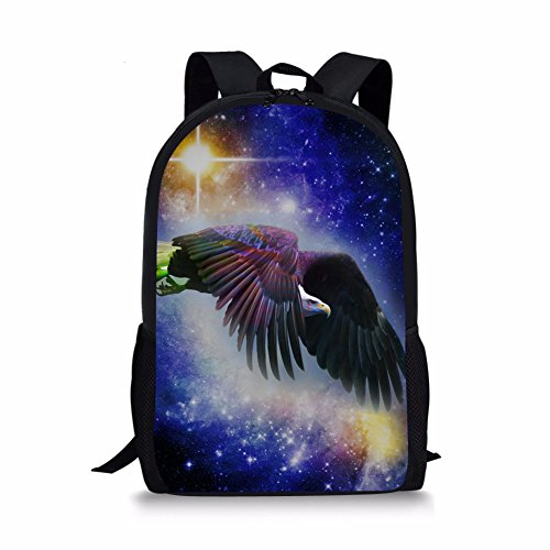 Backpack For Kids Boys Girls Galaxy Hawk Print Casual School - Girls For Hawk Backpack