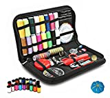 Premium Portable Sewing Kit, Gold Meier 136 Basic DIY Sewing Accessories Tools, 36 Color Spools of Thread, Mini Travel Sew Kits for Beginners Idea for Home Use or DIY to Mending and Repair