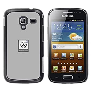 MOBMART Slim Sleek Hard Back Case Cover Armor Shell FOR Samsung Galaxy Ace 2 - Do Not Feed - Funny